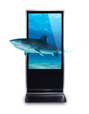 HD Metal Frame Vertical Digital Signage Kiosk , 1GB RAM Digital Signage Totem