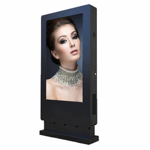 Outdoor Stand Alone Digital Signage Totem 32 Inch With CMS Content Feeding