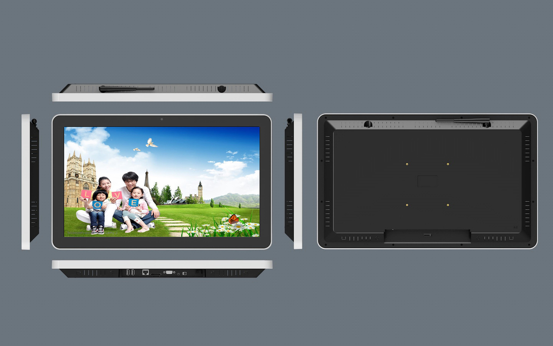 Narrow Bezel Tablet Elevator LCD Display , 21.5 Inch Elevator Advertising Player
