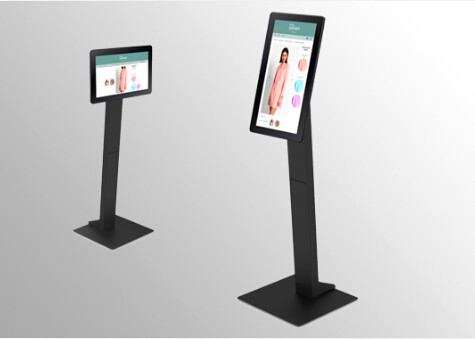 1280x800P Commercial Tablet PC Floor Stand Digital Signage Kiosk ABS Metal 10.1''