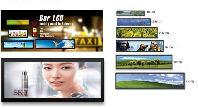Shopping Mall Stretched LCD Display Android 6.0 OS POE TFTmodule 1920x540P Resolution