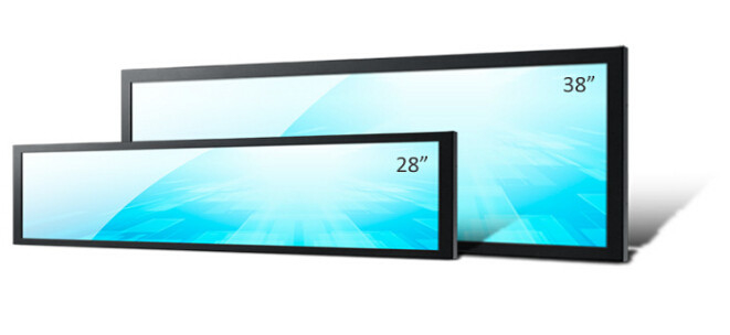 600cd/M2 Stretched Display Screen Digital Signage Bar Max Resolution 1920x540