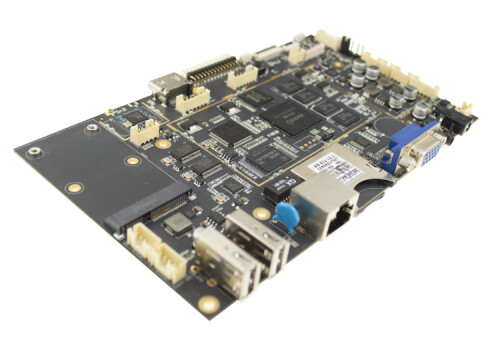 1GB 2GB RAM Embedded System Board With Mini PCIE VGA LVDS Interface Multiple Languages