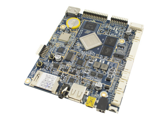 1.8GHz Embedded System Board Quad Core Cortex A17 LVDS 1000M Ethernet AD - Z37