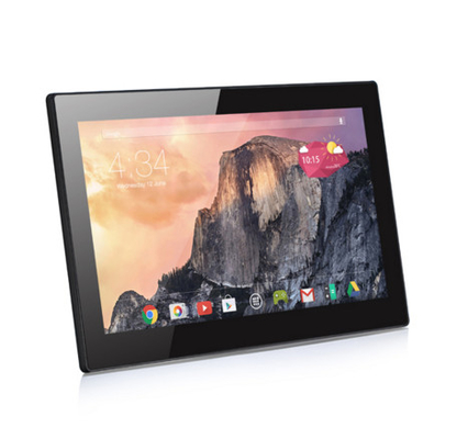 17 Inch Commercial Tablet PC Bus Advertising Wall Mount WiFi 4G LTE Anti - Glare Surface