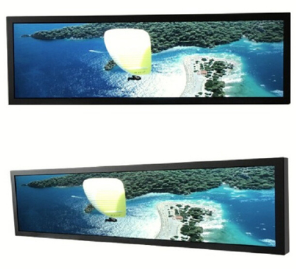 Industrial Taxi Bus Stretched LCD Screen Railway Digital Signage AC100~240V 50 /60 HZ