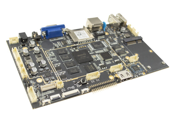 China Quad Core Embedded Linux Board 1GB DDR3 16GB Memory 800W Pixels For Display factory