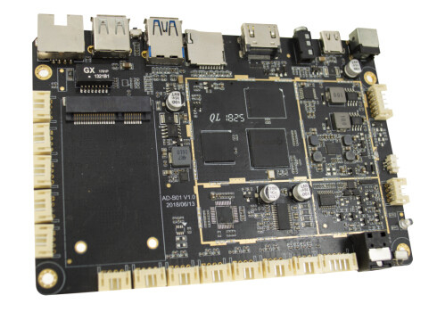 HDMI 2.0a Embedded Computer Boards , 4K 60Hz RJ45 HDCP Embedded CPU Boards